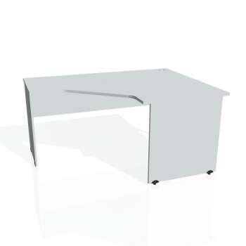 Psací stůl Hobis GATE GEV 80 levý, šedá/šedá