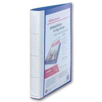 Pořadač Office Depot prezentační čtyřkroužkový A4, modrý
