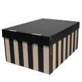 Úložné krabice BIG BOX - hnědočerné, s víkem, 28 x 18 x 37 cm, nosnost 5 kg, 2 ks