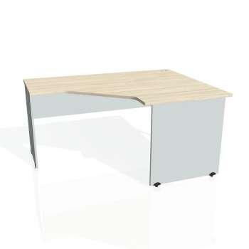 Psací stůl Hobis GATE GEV 80 levý, akát/šedá