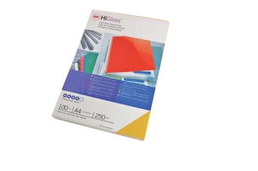 Kartony pro zadní stranu GBC - A4, leštěné, modré, 100 ks