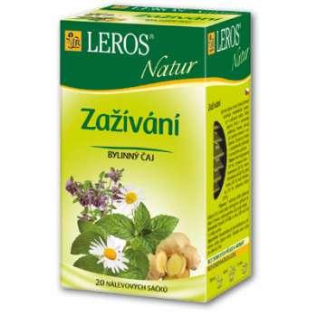 Čaj Leros Bylinný Natur Zažívání 20 x 1,5 g