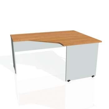 Psací stůl Hobis GATE GEV 80 levý, olše/šedá