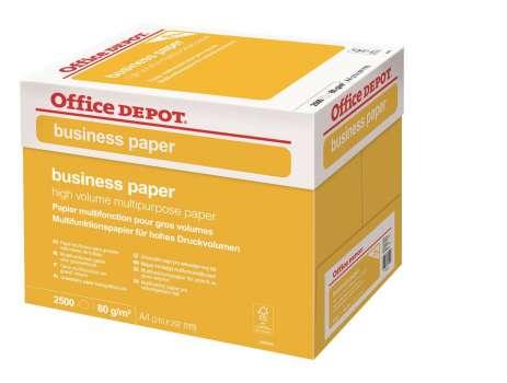 Kancelářský papír Office Depot Business  A4 - 80 g/m2, box 2 500 listů
