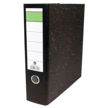 Pákový pořadač Hit Office - A4, šíře hřbetu 7,5 cm, mramor černý
