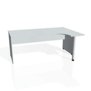 Psací stůl Hobis Gate GE 1800 L - šedá/šedá