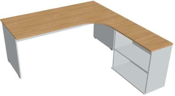 Psací stůl Hobis Gate GE 1800 H L - calvados/šedá