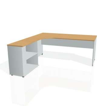 Psací stůl Hobis Gate GE 1800 H P - buk/šedá