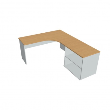 Psací stůl Hobis Gate GE 60 H L - calvados/šedá