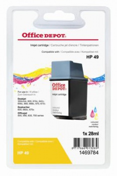 Cartridge Office Depot HP 51649A/49 - 3 barvy