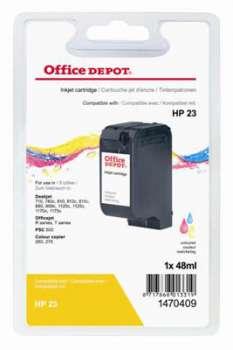 Cartridge Office Depot HP C1823D/23 - tříbarevná