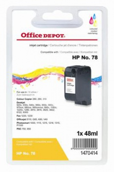 Cartridge Office Depot HP C6578A/78 - tříbarevná