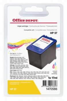 Cartridge Office Depot HP C6657A/57 - 3 barvy