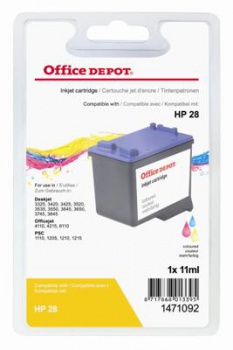Cartridge Office Depot HP C8728A/28 - 3 barvy