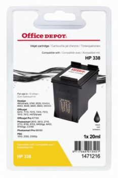 Cartridge Office Depot HP C8765EE/338 - černá