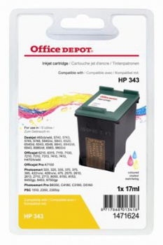 Cartridge Office Depot HP C8766EE/343 - tříbarevná