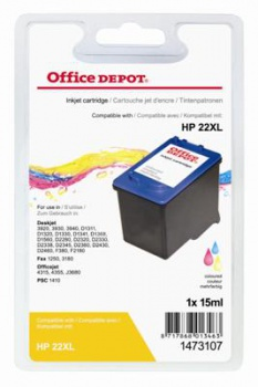 Cartridge Office Depot HP C9352A/22 - 3 barvy
