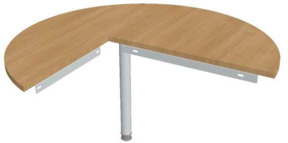 Přídavný stůl Hobis Gate GP 22 P - calvados/kov