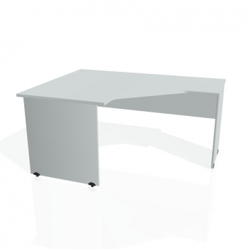 Psací stůl Hobis GATE GEV 80 pravý, šedá/šedá