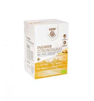 BIO Zázvorový čaj s citrónovou trávou Fair Trade Gepa - 20 x 1,5 g