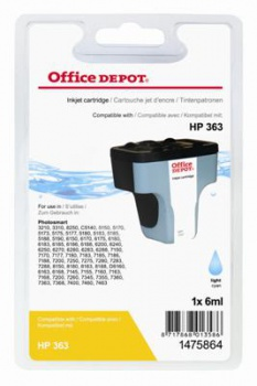 Cartridge Office Depot HP C8774EE/363 - světle azurová