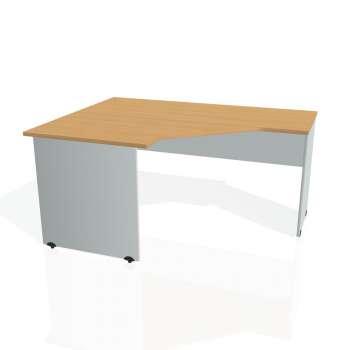 Psací stůl Hobis GATE GEV 80 pravý, buk/šedá