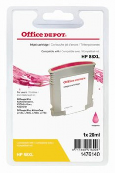 Cartridge Office Depot HP C9392AE/88 - purpurová