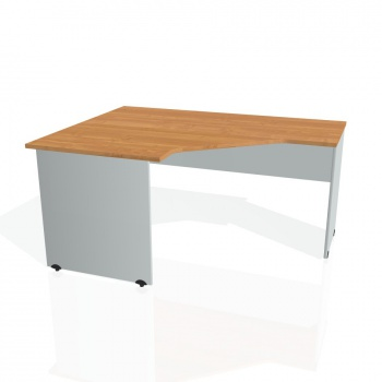 Psací stůl Hobis GATE GEV 80 pravý, olše/šedá