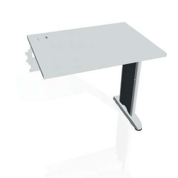 Psací stůl Hobis Flex FE 800 R - šedá/kov