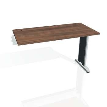 Psací stůl Hobis Flex FE 1200 R - ořech/kov