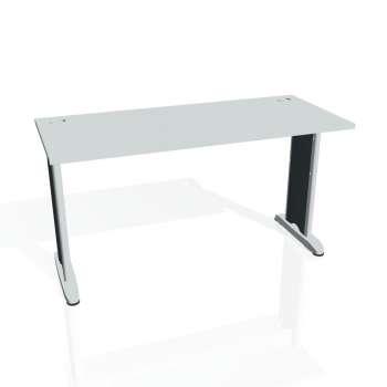 Psací stůl Hobis Flex FE 1400 - šedá/kov