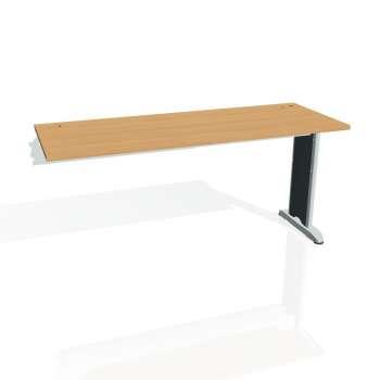 Psací stůl Hobis Flex FE 1600 R - buk/kov