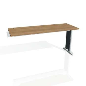 Psací stůl Hobis Flex FE 1600 R - višeň/kov