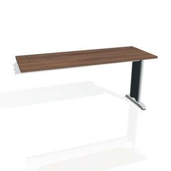 Psací stůl Hobis Flex FE 1600 R - ořech/kov