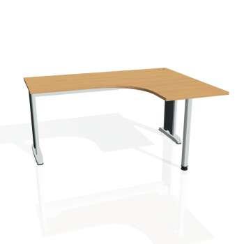 Psací stůl Hobis Flex FE 60 L - buk/kov