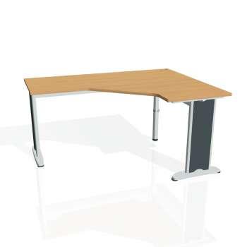 Psací stůl Hobis Flex FEV 60 L - buk/kov