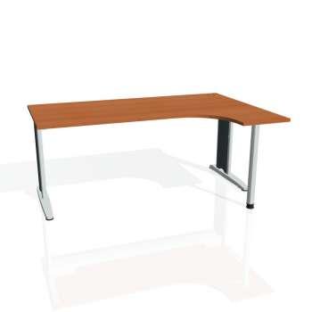 Psací stůl Hobis Flex FE 1800 L - třešeň/kov