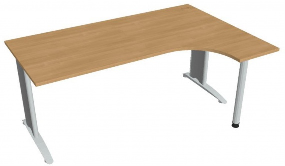 Psací stůl Hobis Flex FE 1800 L - calvados/kov