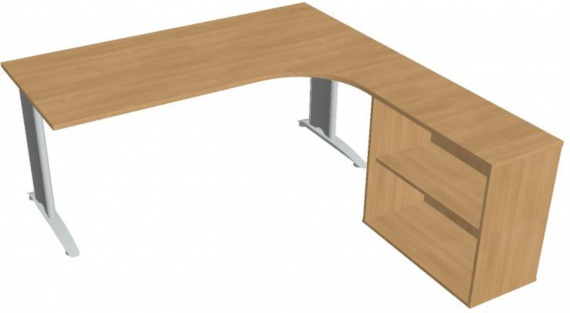 Psací stůl Hobis Flex FE 1800 H L - calvados/kov