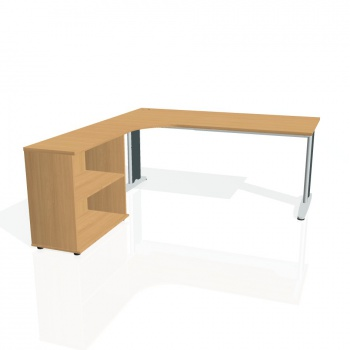 Psací stůl Hobis Flex FE 1800 H P - buk/kov