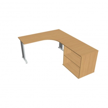 Psací stůl Hobis Flex FE 60 H L - calvados/kov