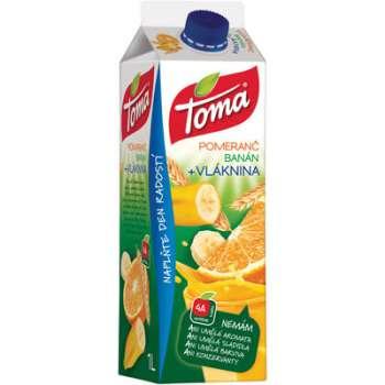 Džus Toma nektar - pomeranč a banán, s vlákninou, 1 l