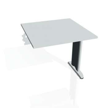 Jednací stůl Hobis Flex FJ 800 R - šedá/kov