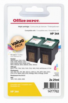 Cartridge Office Depot HP C9363EE/344  - tříbarevná