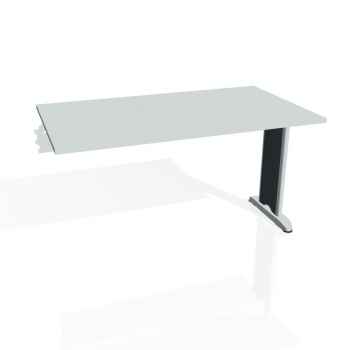 Jednací stůl Hobis Flex FJ 1400 R - šedá/kov