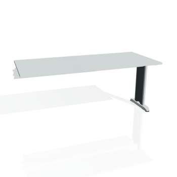 Jednací stůl Hobis Flex FJ 1800 R - šedá/kov
