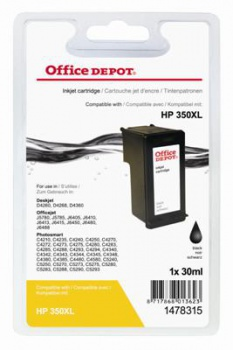 Cartridge Office Depot HP CB336EE/350 - černá