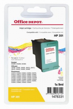 Cartridge Office Depot HP CB337EE/351 - tříbarevná