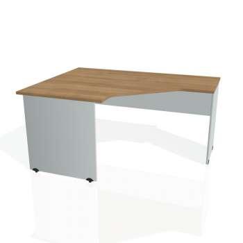 Psací stůl Hobis GATE GEV 80 pravý, višeň/šedá