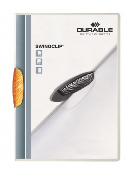Desky s klipem SWINGCLIP COLOR TRANSPARENT, oranžové